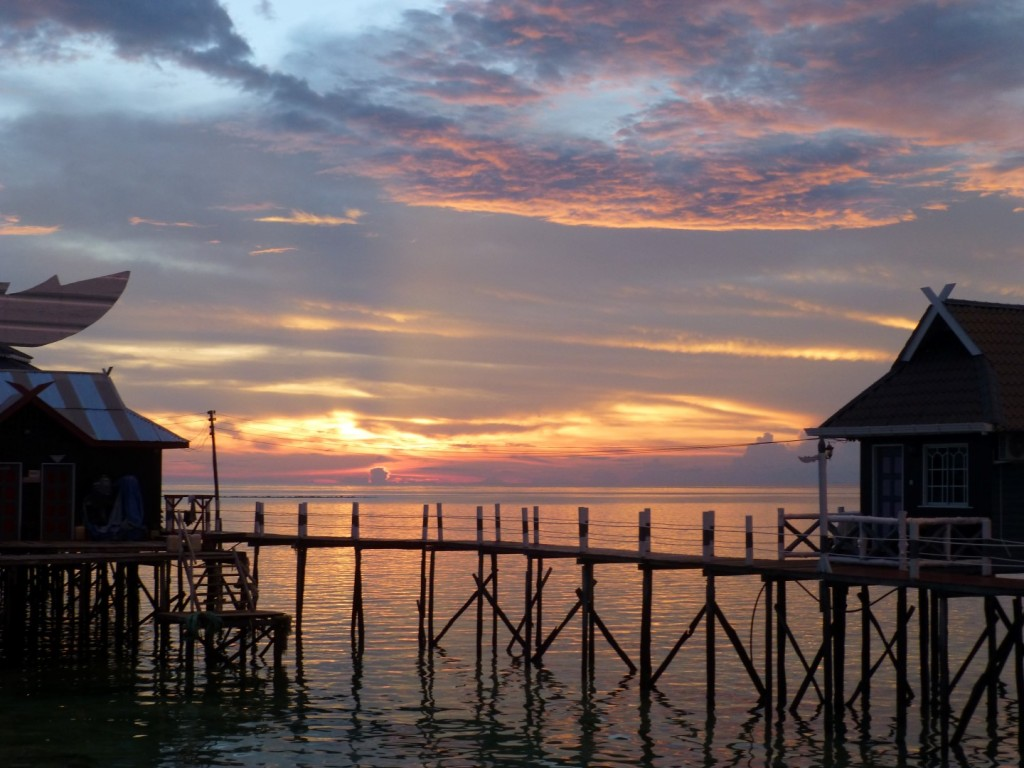 sunset from Mabul