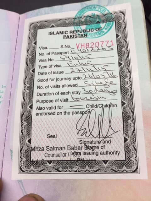 The elusive Pakistan visa