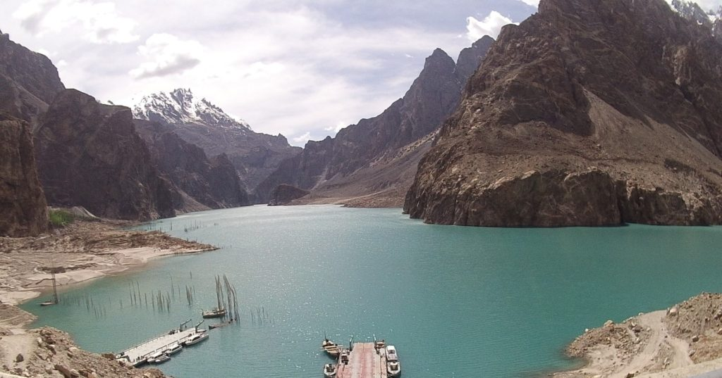 A beautiful lake created by the 'Attabad landslide'