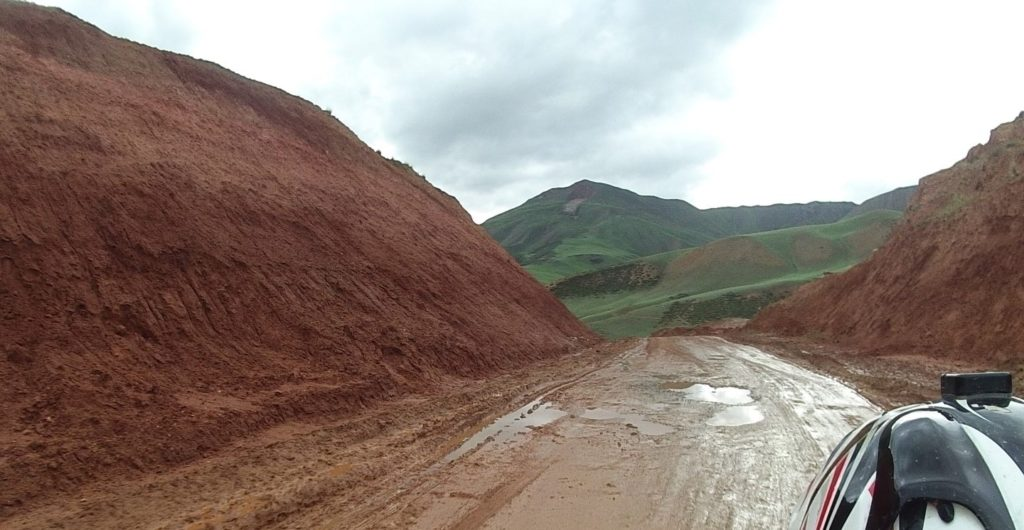 the last part of the road to naryn turned to mud