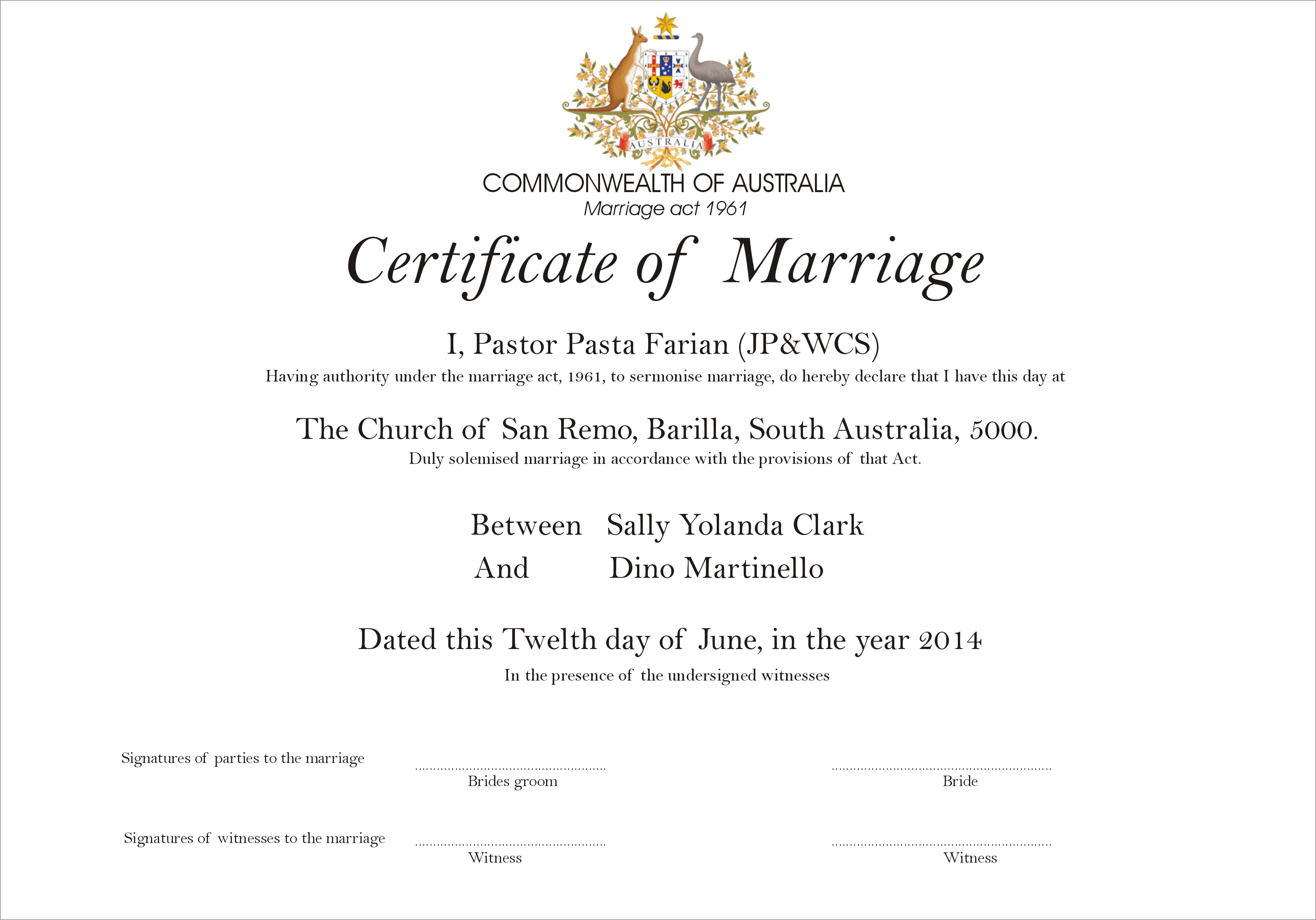 Our Marriage Certificate For Irans Conservative Hotels