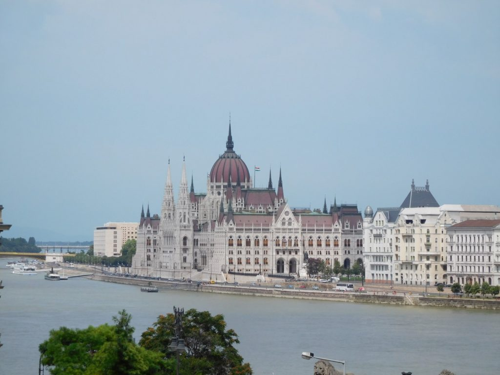 The Budapest skyline, quite nice.