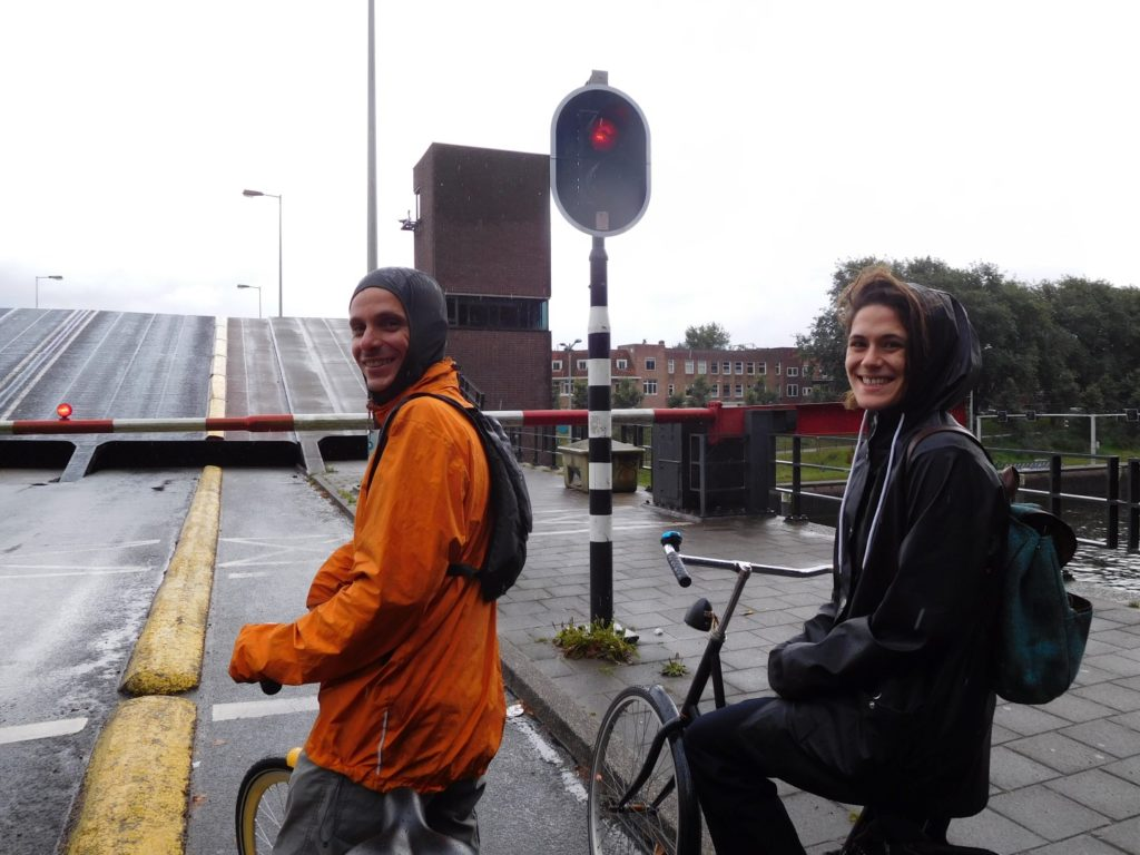 Biking in the rain Amsterdam style